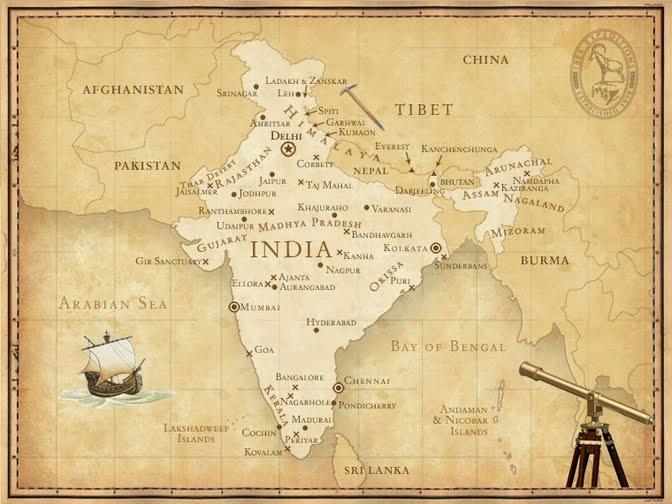 Карта на Индия