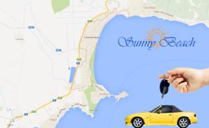 карта на Слънчев бряг