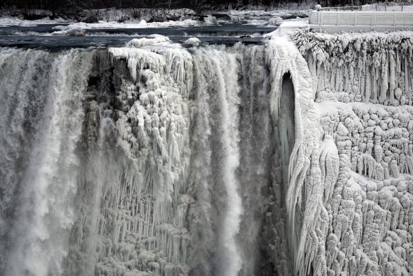 ниагарския водопод в лед